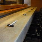 松寿司 - 見事なカウンター