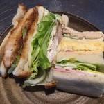 フランダース - 手作り感満載のサンドイッチに大満足
