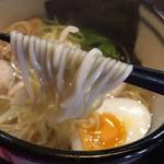 支那そば かりん - 塩そば(750円)麺リフト