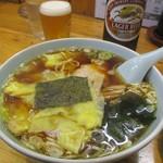 中華飯店青柳 - ワンタン麺