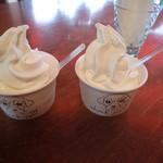 地球のアイス - ソフトクリーム2種類