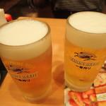 サイゼリヤ 札幌駅北口店 - ビールで乾杯