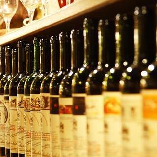 約2000種類のワインは2000円からお愉しみ頂けます!