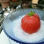 ミーシャのハーブ庭園 ブーケ ダルブル - 丸ごとトマトのかき氷