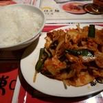 陳麻家 - 【2017.8.16(水)】陳麻家定食(豚キムチ+半坦々麺)850円の豚キムチ