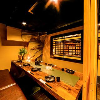 《赤羽駅徒歩2分!!》和の趣きある店内は全席完全個室空間♪