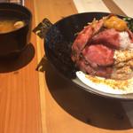 71588863 - ロビコネ丼 味噌汁つき 880円