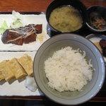 えんざ - えんざの定食「銀だら煮付け、出汁巻きたまご」