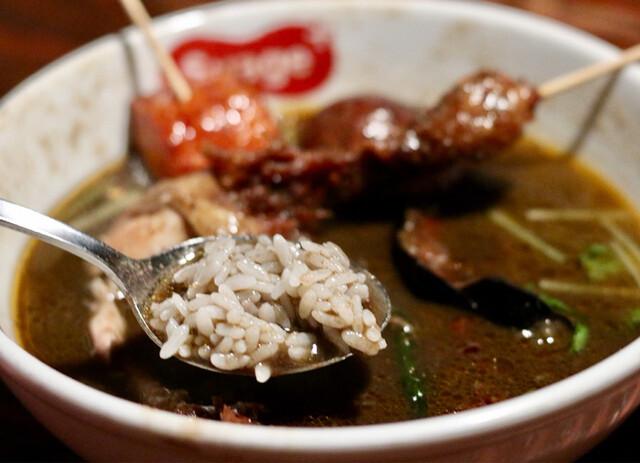 スープカリー スアゲ プラス 本店 - 赤米をブレンドしたご飯をスープにくぐらせると最高♪
