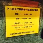 71594029 - トッピング無料サービス案内!