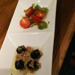 炭火焼きバル フォンターナ - 前菜3種