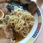 米沢ラーメン すえひろ - 細縮れ麺