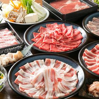 しゃぶしゃぶ食べ放題コースは、リーズナブルな1,980円~!