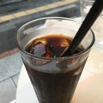 カフェイズミ - セットのアイスコーヒー