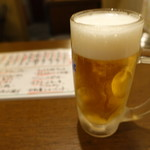 すたんどばぁー 楽 - 2017.08 生ビール(570円)