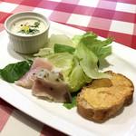 ペンナロッソ - ランチの前菜盛り合わせ
