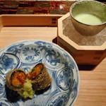 龍吟 - 雲丹、空豆、枝豆冷製スープ