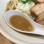 零一弐三 - 煮干し蕎麦のスープ