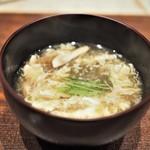 心米 - ブータン産松茸 蓴菜 三つ葉 放し飼い鶏有精卵のかき玉仕立て