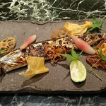 魚貝三昧 げん屋 - 新サンマ塩焼き
