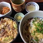 大八 - 小肉丼定食(冷やしぶっかけうどんVer.) 1200円