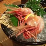 料理人の料理 魯山人 - ボタン海老の造り