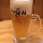 豚捨 - 生ビール(600円)
