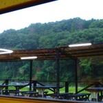 寒井観光余一やな - 窓から見える森林