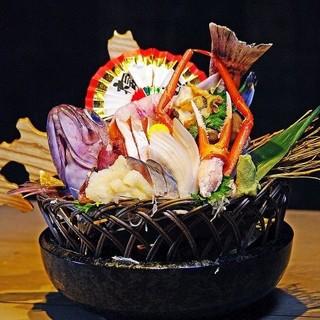 【ここでしかの】北海道100%産の刺身盛り合わせ