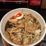 傾奇御麺 - 黒醤油ラーメン 中盛+煮玉子