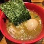 玉 赤備 - スープ(特製豚鶏つけ麺)