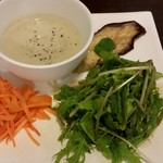 石窯キッチン&カフェ ぶらぼぅ - 2017/7 サラダ、スープ