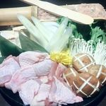 地鶏個室居酒屋 鼓 心斎橋店 - 贅沢名古屋コーチンのすき焼きの具・鶏コース10品4000円(税抜き)