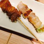 串カツ・どて煮 然 - トン焼きタレ、ネギマ