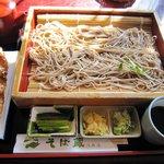 そば蔵 - 信州セット 五平餅のボリュームがあります。
