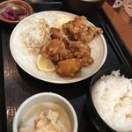 焼魚食堂 魚角 - 唐揚げ定食