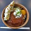Choumenudon - 料理写真:みそころうどん中withちくわ磯辺あげ、卵黄