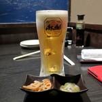 北海道応援隊 きたいち酒場 - つきだしと生ビール