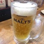 蛸童子 - まずは生ビール!