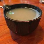蕎麦切り大城 - 最後に蕎麦湯