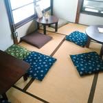 中町食堂 - 2階に通されました。ちゃぶ台席も幾つか。