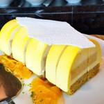 ザ・レストラン by アマン - ホワイトチョコレートとオレンジのムース@優しい味。オレンジコンフィチュール美味