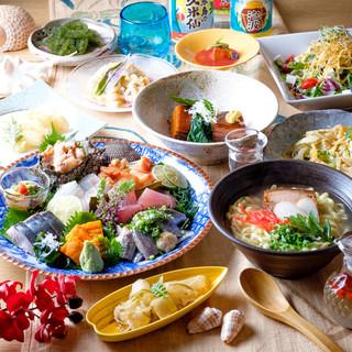 海ブドウやラフテー等の本格沖縄料理を東中野で味わえる
