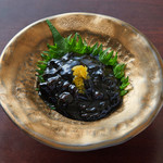 富山県産ほたるイカの黒造り