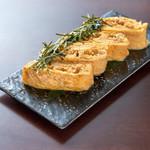 徳島県産地鶏のそぼろだし巻き玉子