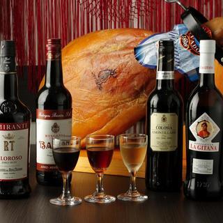 CPの高いスペインワイン&シェリー多数取り揃えております。
