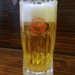 もつ焼 あぶさん - オリオン生ビール