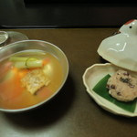 海石榴 - 料理写真:椀物 瀬戸内産 焼目鱧の澄まし仕立て
