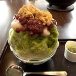 甘党茶屋 梅園 - 宇治金時+白玉+わらび餅(980円)