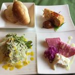 レストラン ル・ヴェール - 前菜、サラダ、パン